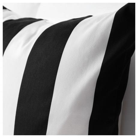 Чехол на подушку ВОРГИЛЛЕН белый, черный фото 1