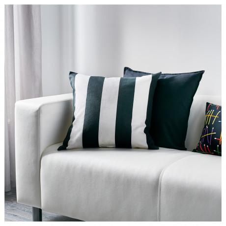 Чехол на подушку ВОРГИЛЛЕН белый, черный фото 2