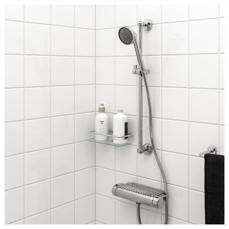 Душевая штанга с ручным душем ВОКСНАН хромированный фото 2