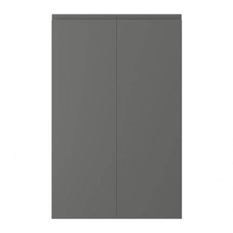 Дверца д/напольн углового шк, 2шт ВОКСТОРП правосторонний темно-серый фото 0