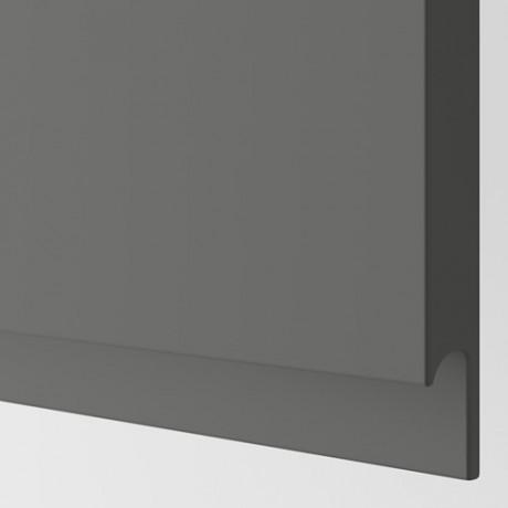 Дверца д/напольн углового шк, 2шт ВОКСТОРП правосторонний темно-серый фото 1