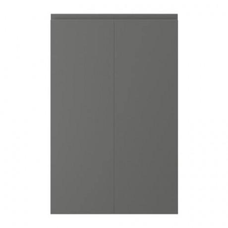 Дверца д/напольн углового шк, 2шт ВОКСТОРП правосторонний темно-серый фото 4